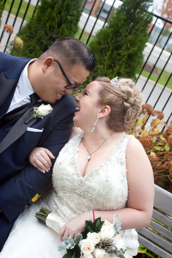 laughing couple wedding portrait at Universal EventSpace