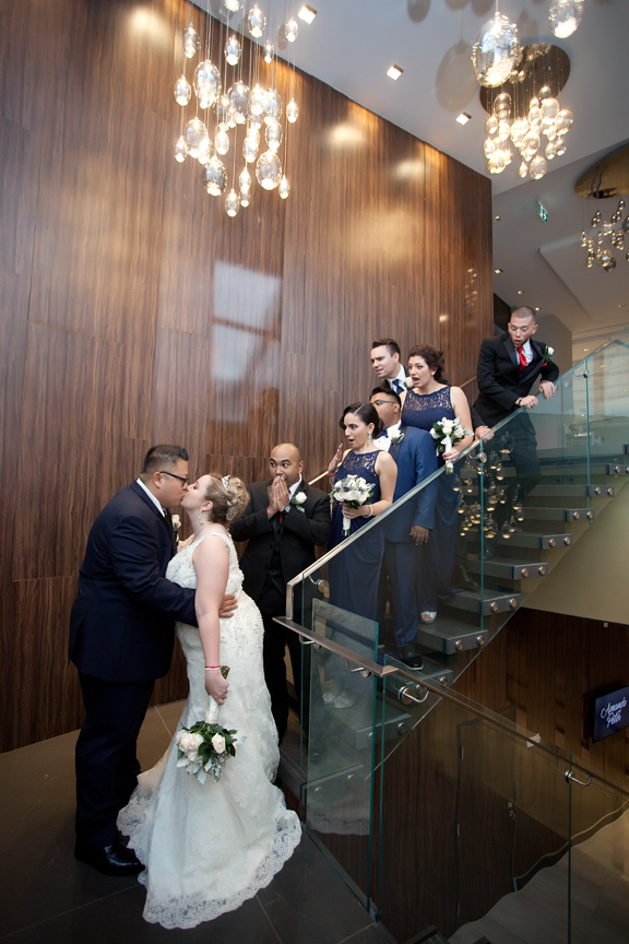 bridal party wedding portrait at Universal EventSpace