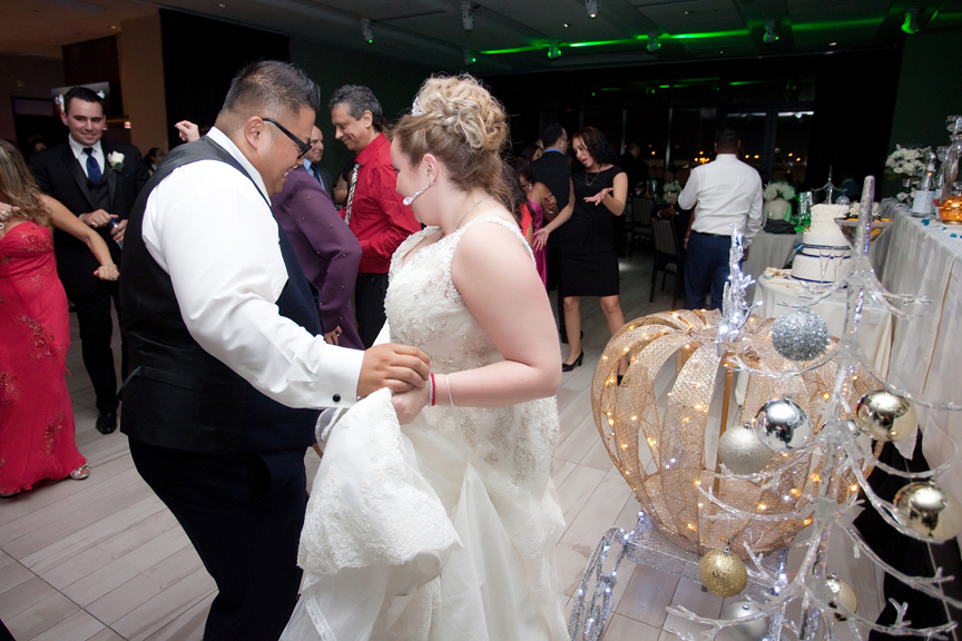 bride and groom dance wedding reception at Universal EventSpace