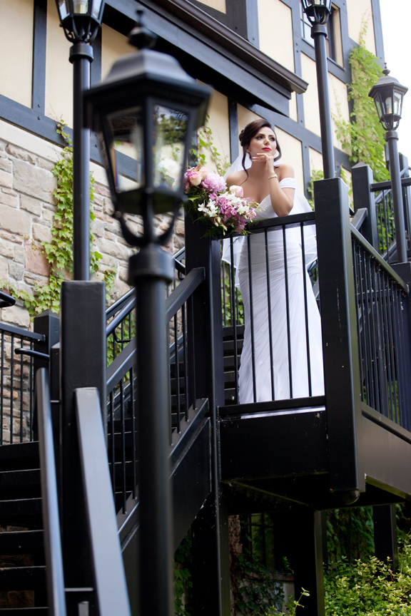 bride wedding portrait at Old Mill Toronto