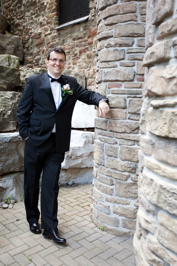 groom wedding portrait at Old Mill Toronto