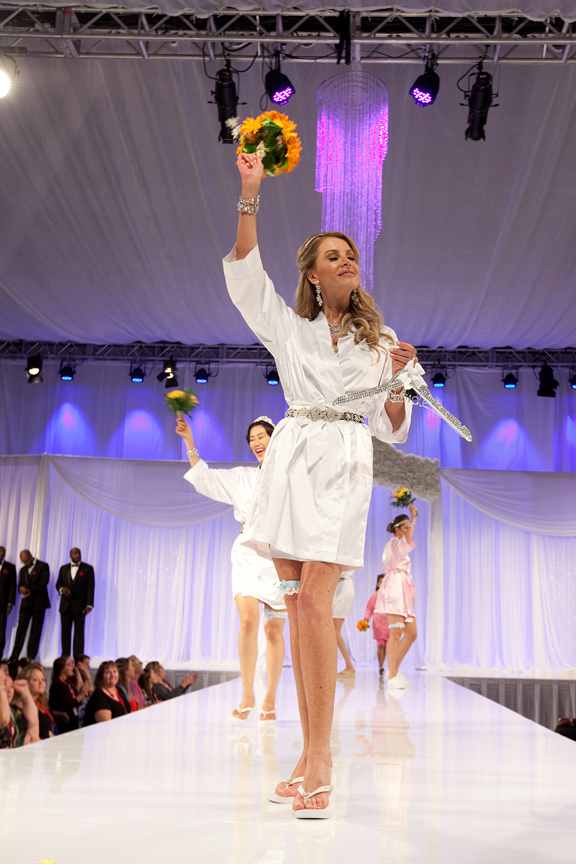 bouquet toss Corporate Event Photography Canada's Bridal Show