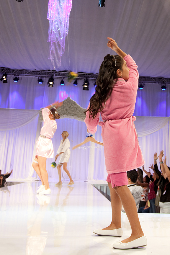 bouquet toss Canada's Bridal Show Corporate Event Photography