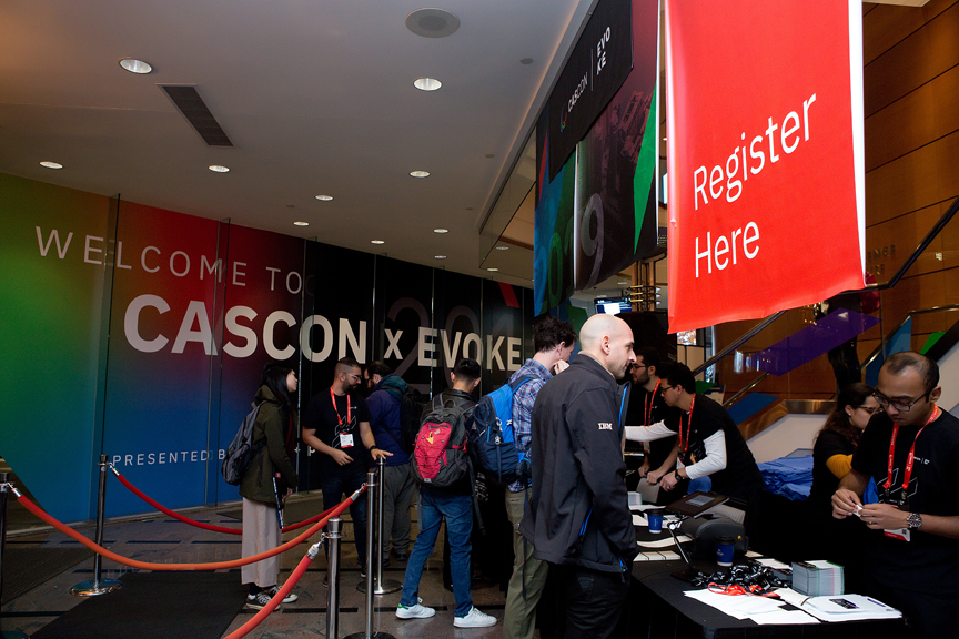 registration Cascon x Evoke Conference 2019 Corporate Event Photography
