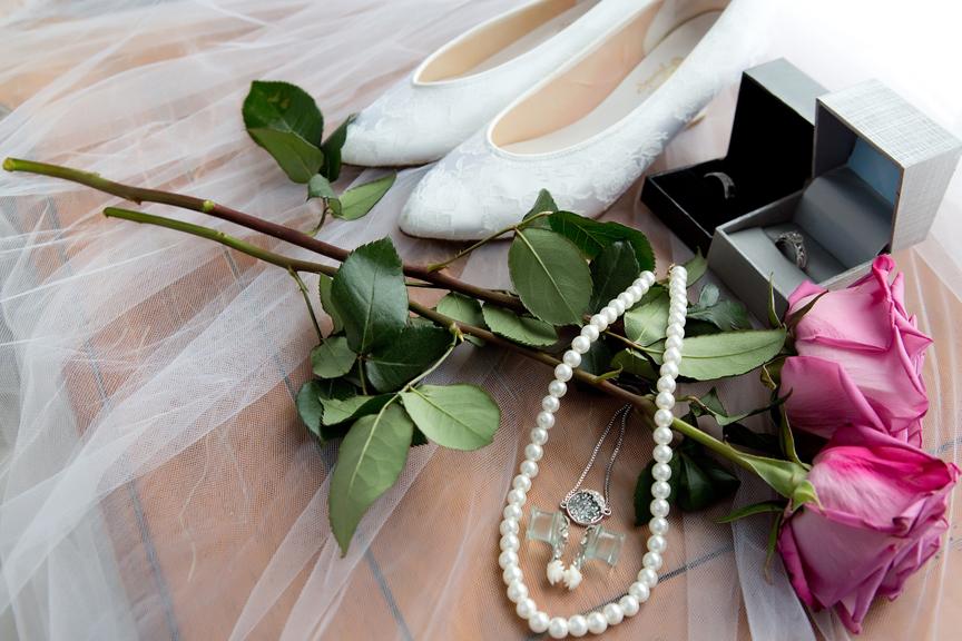 bride prep wedding accessories