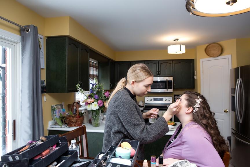bride prep wedding makeup
