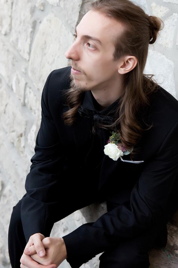 groom prep wedding portrait