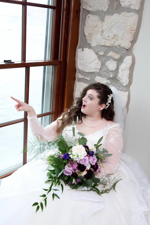 bride prep wedding portrait