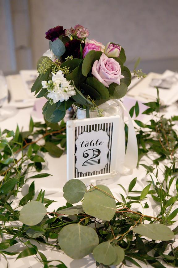 table decor wedding reception at Cambridge Mill