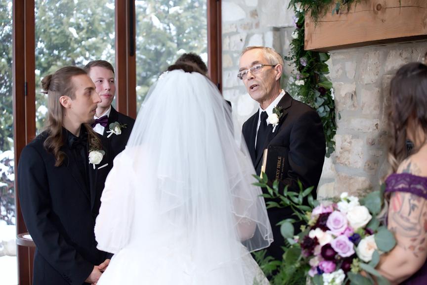 wedding ceremony at Cambridge Mill