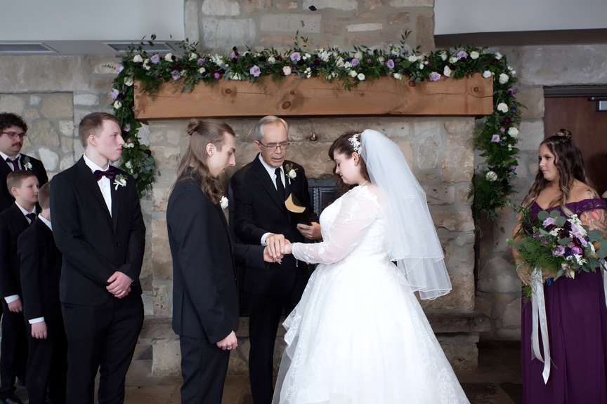 blessing wedding ceremony at Cambridge Mill