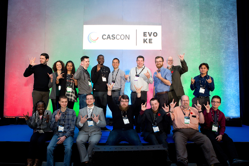 group photo Cascon x Evoke Conference 2019