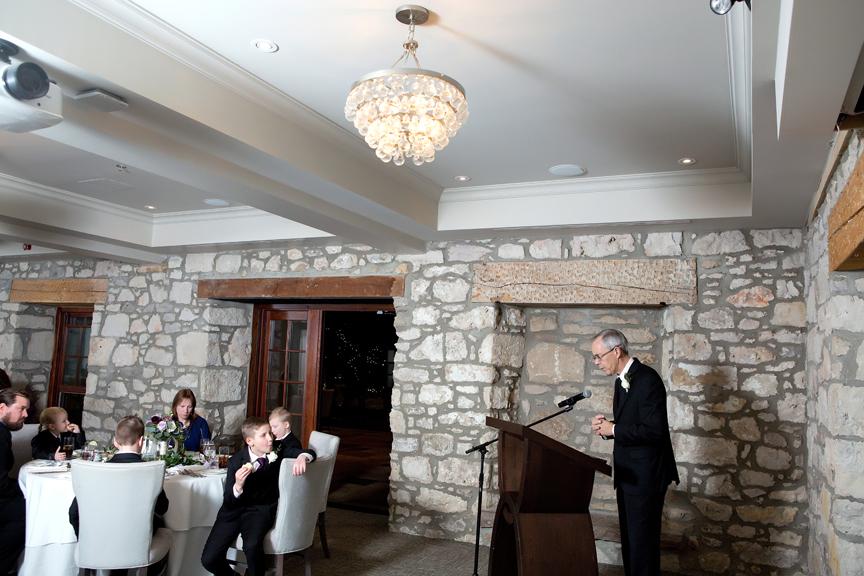 speech wedding reception at Cambridge Mill