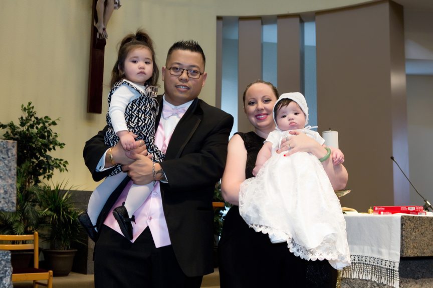 Milestone Event Photography Baptism at St Peter's Roman Catholic Church Parents