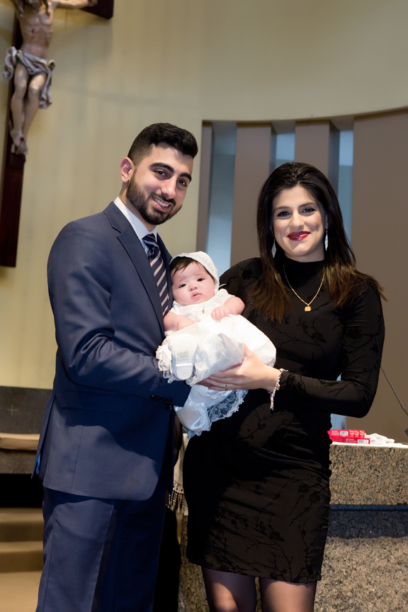 Milestone Event Photography Baptism at St Peter's Roman Catholic Church god parents