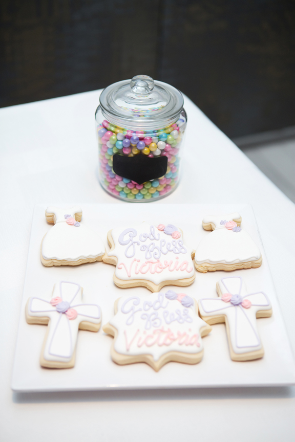 Milestone Event Photography Baptism decor at Universal EventSpace cookies