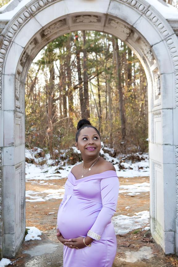 new mom at Guild Inn Gardens