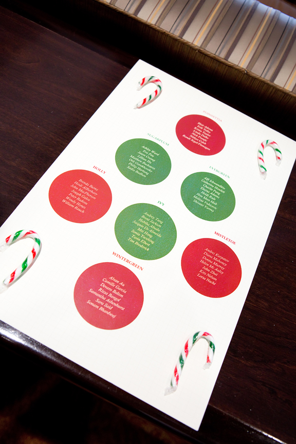 seating chart decor Kenilworth Media Holiday Party Corporate Event Photography