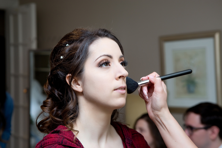 bride prep wedding makeup