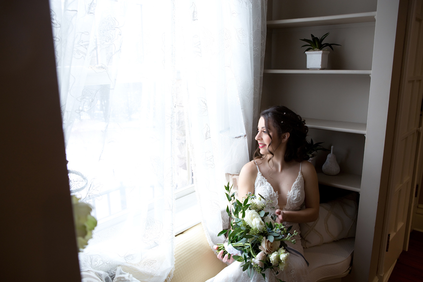 Paletta Mansion bride prep wedding portrait