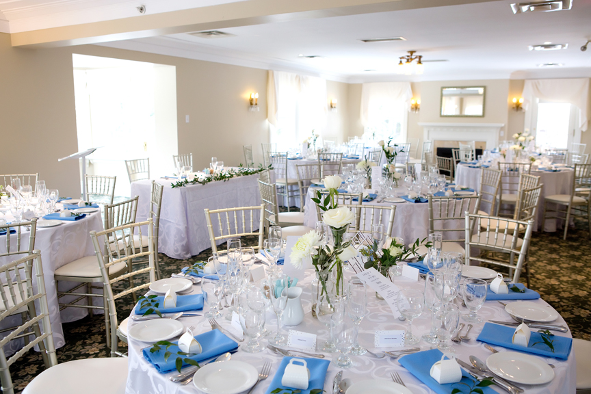Paletta mansion winter wedding reception decor hall
