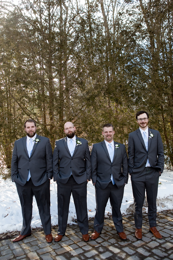 Paletta mansion winter wedding portrait groomsmen
