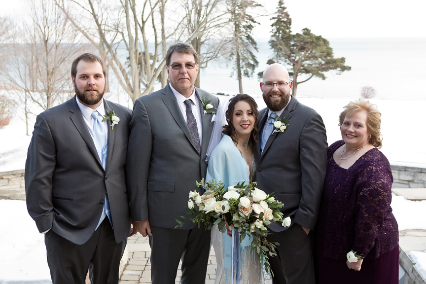 Paletta mansion winter wedding portrait family