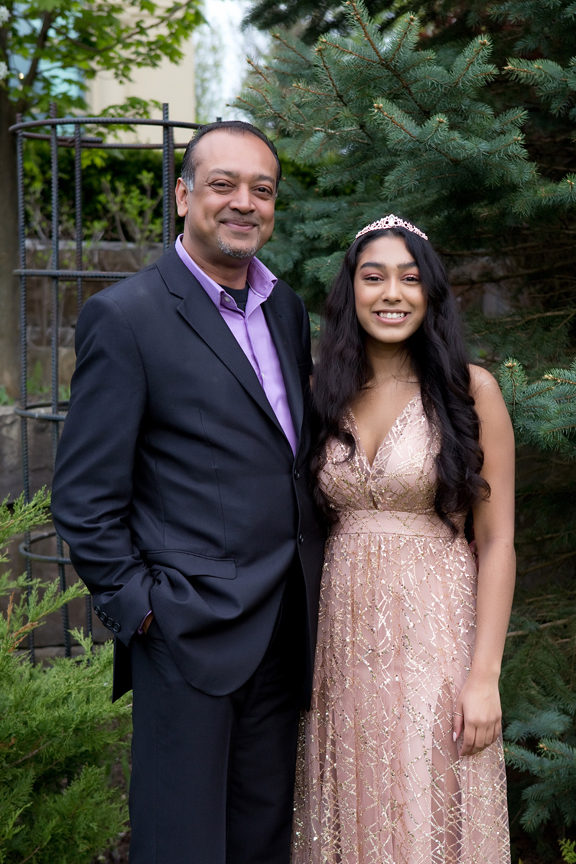 Milestone Event Photography Sweet Sixteen Birthday party at Royal Ambassador with dad
