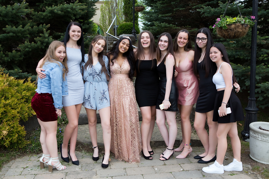 Milestone Event Photography Sweet Sixteen Birthday party at Royal Ambassador group photo