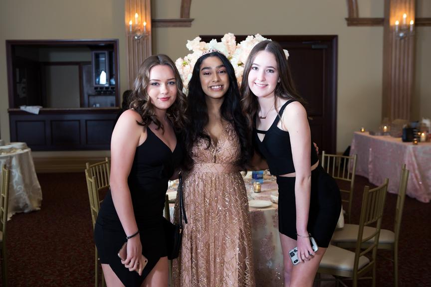 Sweet Sixteen Birthday party at Royal Ambassador greeting guests