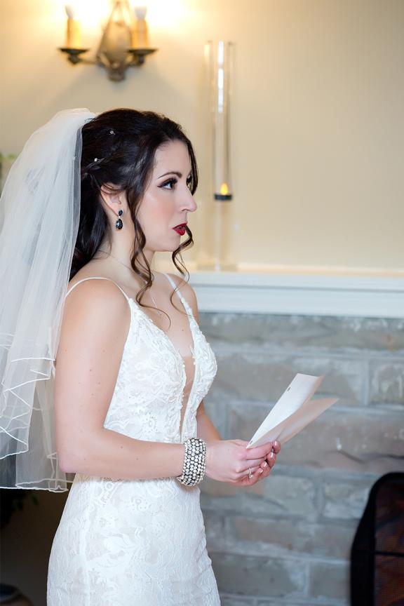 wedding ceremony bride vows