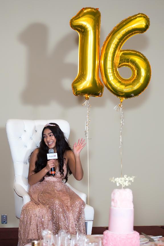 Sweet Sixteen Birthday party at Royal Ambassador speech