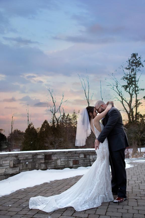 Paletta Mansion wedding portrait couple sunset