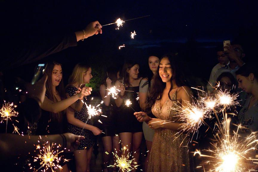 Sweet Sixteen Birthday party at Royal Ambassador sparklers