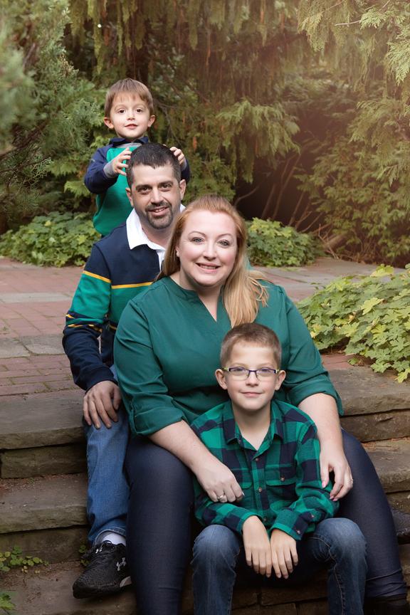 professional portrait parents and kids