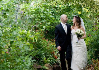 Wedding Portrait at Allan Gardens