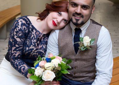 Wedding Portrait at Toronto City Hall