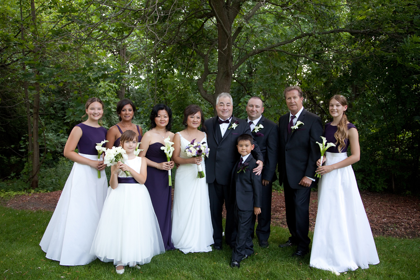 wedding portrait bridal party