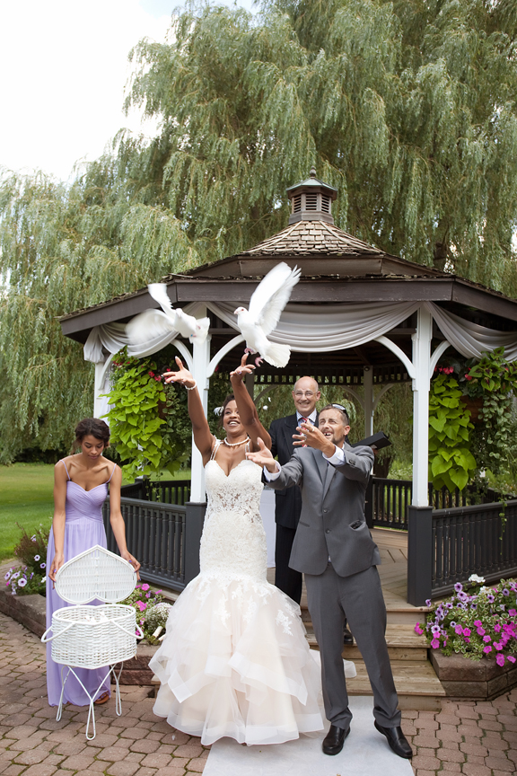 wedding ceremony dove release Carls Catering The Glen