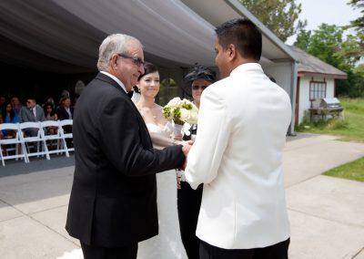 Wedding ceremony at The Manor