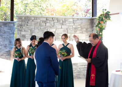 wedding ceremony at Guild Inn Estate
