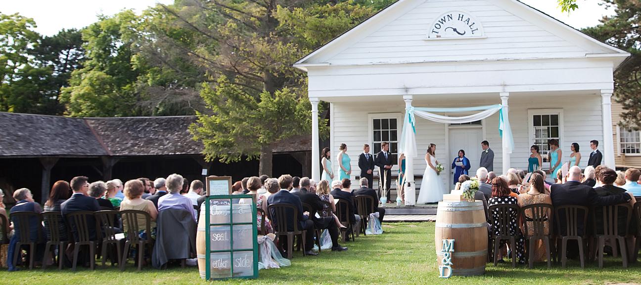 wedding ceremony Town Hall Green Black Creek Pioneer Village