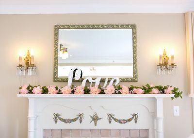 Wedding decor at Paletta Mansion