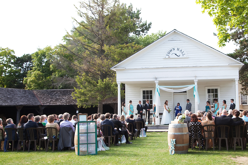 wedding ceremony Town Hall Green Black Creek Pioneer Village