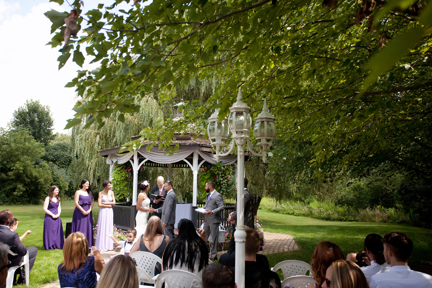 wedding ceremony at Carls Catering The Glen