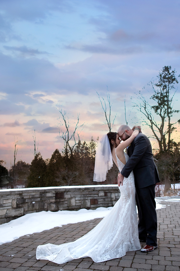 wedding portrait sunset