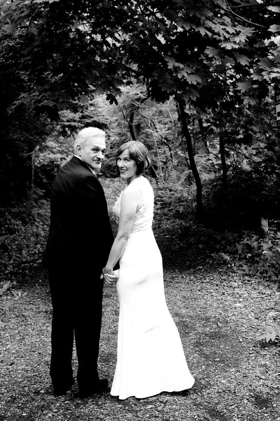 wedding portrait black and white