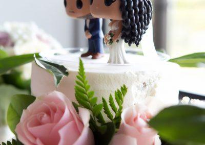 Wedding reception decor at The Manor