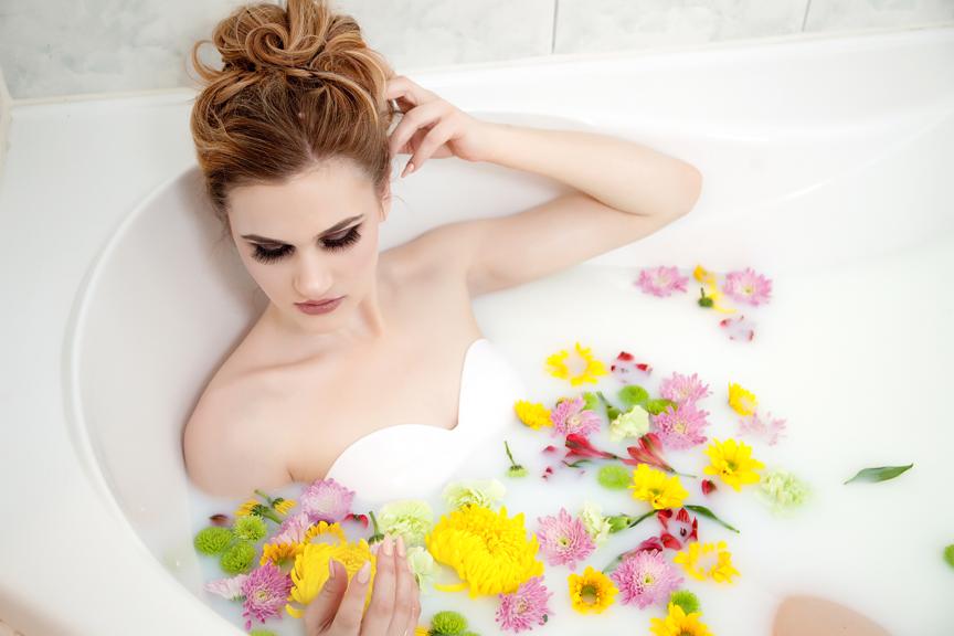 Milk bath portrait