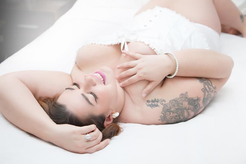 bridal lingerie portrait
